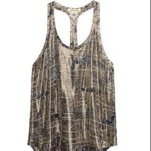 Isabel Marant for H&M gold silk tank top/vest